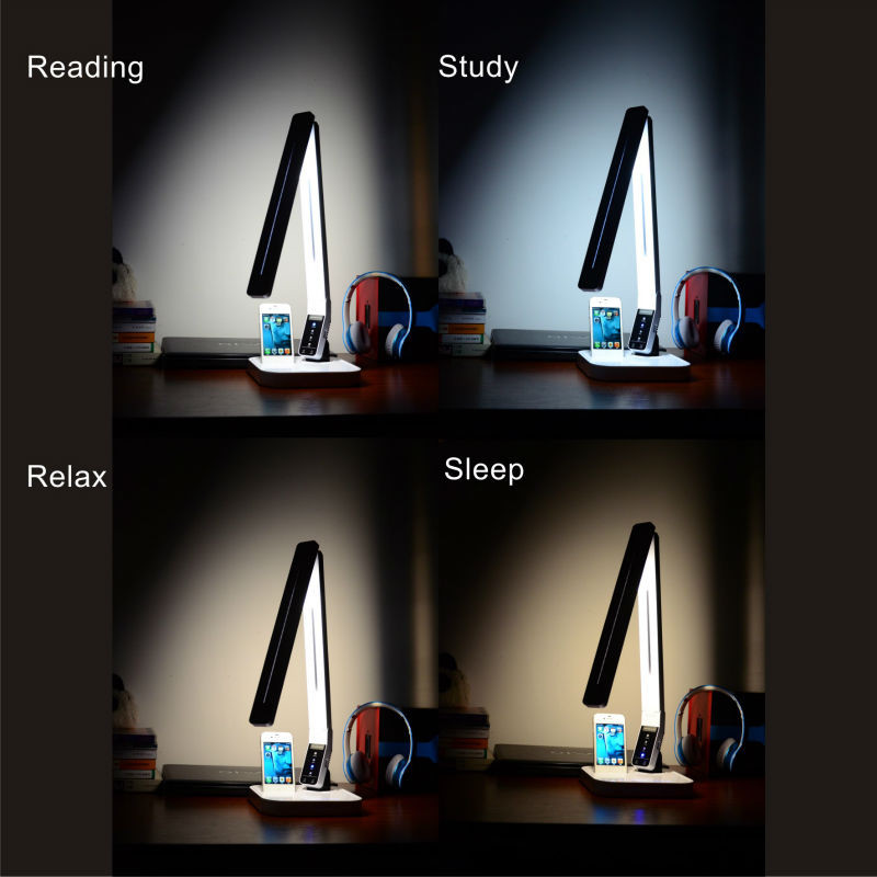 control lighting with iphone. LED Table Lamp With Smart Panel Control, IPhone 5/6 \u0026 USB Charger Makes It Possible To Have Less General Lighting And Still The Right Amount Of Light Control Iphone