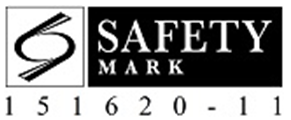 Glass safety mark